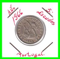 PORTUGAL  /  MONEDA RÉPUBLICA > 5.00 ESCUDOS AÑO 1966 - Portugal