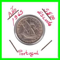 PORTUGAL  /  MONEDA RÉPUBLICA > 5.00 ESCUDOS AÑO 1965 - Portugal