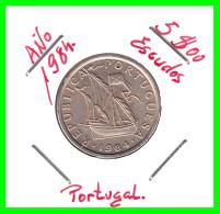 PORTUGAL  /  MONEDA RÉPUBLICA > 5.00 ESCUDOS AÑO 1984 - Portugal