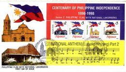Filippine Philippines Philippinen Filipinas 1994 Centenary Philippine National Anthem Minisheet 2 - FDC (see Photo) - Philippines