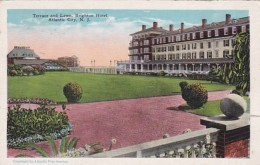 New Jersey Atlantic City Hotel Brighton Terrace and Lawn 1929
