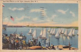 New Jersey Atlantic City Sail Boat Races At The Inlet 1942