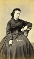 France La Rochelle Femme Mode Second Empire Ancienne Photo CDV Tallon Larente 1860's - Photographs