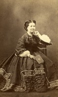 France Paris Femme Mode Second Empire Ancienne Photo CDV Delintraz 1860's - Photographs