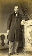 France Laval Homme Mode Second Empire Ancienne Photo CDV Bouvier 1860's - Photographs