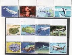 Samoa 2014 Meereslebewesen  Fish Turtles Sharks Etc. 12val. Overprint - Samoa