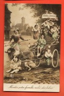 NES-15 Attelage Avec Collies, Bébés à Vendre.Montez Votre Ffamille Voilà Des Bébés. Circulé 1919 - Neonati