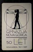 SLOVENIA Gimnasium Nova Gorica Chip Phonecard 100 Impulz - Slovenia