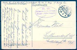 1915 , ALEMANIA , CORREO MILITAR , TARJETA POSTAL CIRCULADA , FRANQUICIA XIX ERSATZ DIVISION - Cartas