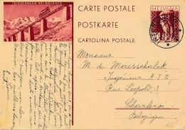 Entier Suisse 1931 - Niesenbahn Bei Mülenen - Funiculaire - - Trenes