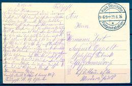 1916 , ALEMANIA , CORREO MILITAR , TARJETA POSTAL CIRCULADA , LANDSTURM INF. BAT. ZITTAU / 1. KOMPAGNIE , FELDPOSTC - Cartas