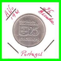 PORTUGAL  /  MONEDA RÉPUBLICA > 25 - ESCUDOS AÑO 1981 - Portugal