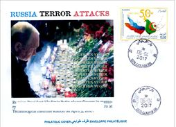 ALGHERIA 2017 Cover St Petersburg Metro Terrorist Attacks - Cancelled Date Of Attacks Terrorism Russia Putin Poutine - Enveloppes