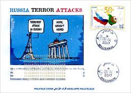 ALGHERIA 2017 Cover St Petersburg Metro Terrorist Attacks Cancelled Date Of Attacks Terrorism Russia Tour Eiffel - Enveloppes