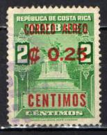 COSTARICA - 1962 - SOVRASTAMPATO PER USO POSTA AEREA - OVERPRINTED - USATO - Costa Rica