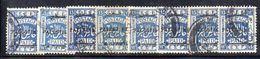 XP3568 - PALESTINA , 13  Mill  Blue Usato : Otto Esemplari - Palestina