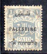 XP3569 - PALESTINA , 1 Piastra Grigio Usato - Palestina