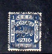 XP3570 - PALESTINA , 1 Piastra Blue Usato - Palestina