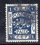 XP3571 - PALESTINA , 1 Piastra Blue Usato - Palestina