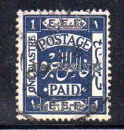 XP3573 - PALESTINA , 1 Piastra Blue Usato - Palestina