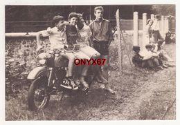 Photo 10,5 X 7 Cms - MOTO- MOTOCYCLETTE - Marque ?? Fotolabor WEIMAR - Motos