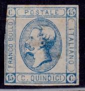 Italy, 1863, King Emmanuel II, 15c, Type II, Sc#23, Used - Used