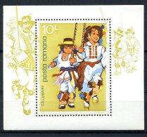 Romania, 1977, Folk Dance, MNH, Michel Block 145 - Rumania