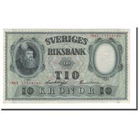 Suède, 10 Kronor, 1940, KM:40c, 1942, SPL+ - Suède