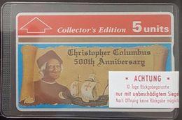 Gibraltar - GIB-16, Columbus 500th Anniversary Collectors Ed., 5U, 5000ex, 1992. Mint - Gibraltar