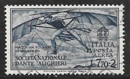 Italy, Scott # C32 Used Da Vinci's Flying Machine, 1932, CV$200.00 - Poste Aérienne