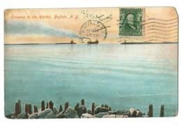 18646     Cpa   BUFFALO   Entrance In The Harbor ! 1908 - Buffalo