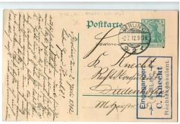 """18658  Cpa  BERLIN """"C"""" ?  1912 Pour Diedenhofen  , Tampon Eingegangen C. Knecht Rechtskonsulent  ! - Oblitérés"""