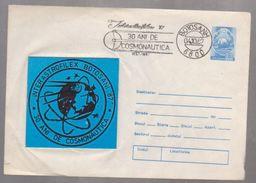 SPACE COSMOS, CO  VER SPECIAL ROUMANIE 1987, BOTOSANI - Enteros Postales