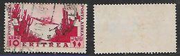 Eritrea, 1936 Air Scenes, 10 Lire, Used - Eritrea