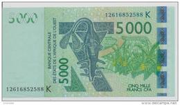 WEST AFRICAN STATES P. 717Kj 5000 F 2012 AUNC - Senegal