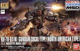 RX-78-01[N] Gundam Local Type ( North America Type ) 1/144 ( Bandai ) - SF & Robots