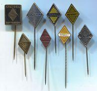 RENAULT - Car, Auto, Automotive, Vintage Pin, Badge, Abzeichen, 8 Pcs - Renault
