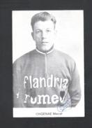 WIELRENNER - CYCLISTE - COUREUR  MARCEL ONGENAE - FLANDRIA ROMEO - FOTOKAART + HANDTEKENING (8930) - Cyclisme