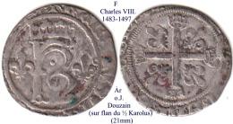 F-(1483-1497), 1 Douzain/Karolus - 987-1789 Monete Reali