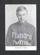 WIELRENNER - CYCLISTE - COUREUR  WALTER BOUCQUET - FLANDRIA ROMEO - FOTOKAART + HANDTEKENING (8942) - Cyclisme