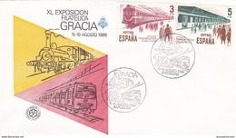 España Sobre Nº 2730 - Trenes