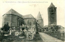 N°58129 -cpa Environs E Cherbourg -l'église De Querqueville Et La Chapelle Saint Germain- - Autres Communes