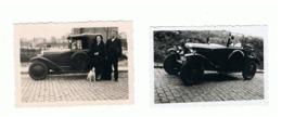 Lot De 2 Photos (+/- 6 X 9 Cm) Oldtimer, Citroën 5 CV ?? Automobile, Auto, Ancêtre, Voiture,... - Automobili
