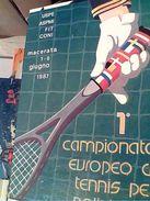 TENNIS 1° CAMPIONATO EUROPEO X POLIZIA POLIZIE MUNICIPALI REGIONE MARCHE MACERATA N1987 GH17070 - Tennis
