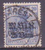 65-966 / D. BESETZUNGEN / RUMAENIEN  1917  *Germania * Mit Aufdruck  Mi 6  O - Besetzungen 1914-18