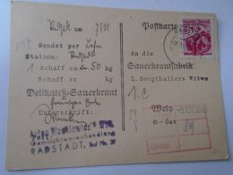 D154294 Austria   Delikatess Sauerkraut  Anton Warkiewicz  RADSTADT - Sauerkratfabrik Wels 1949 - 1945-.... 2nd Republic