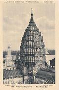 Cp , 75 , PARIS , Exposition Coloniale Internationale De 1931 , Temple D'Angkor-Vat , Tour Nord-Est - Expositions