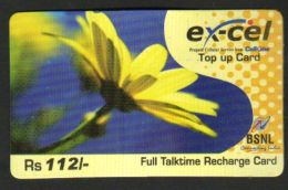 India  Cell One  Flower  Ex-Cel   Top Up  Telephone Card    #  Inde Indien   01627  OLD D - Blumen