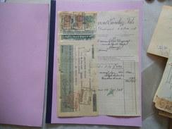 DUNKERQUE DUPONT-CUVELIEZ-FILS USINE A DECORTIQUER LES POIS RUE DU PRESIDENT POINCARE FACTURE ET TRAITE DU 12/10/1928 - France