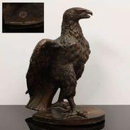 Sculpture D'un Aigle En Bronze Ancien Avec 40cm De H. - Bronzen